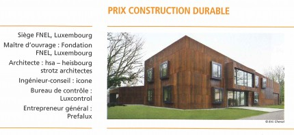 Prix construction durable